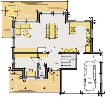 Behaglicher Wohnbereich Mit Wohldosierten Glasflächen, Offene Diele Und Ein  Büro Als Reserveraum