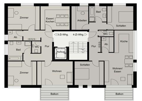 objekttyp wohnbau - Mehrfamilienhaus Grundriss Beispiele